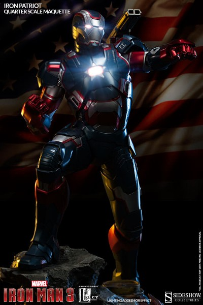 Sideshow Marvel Iron Man 3 Movie Iron Patriot Maquette