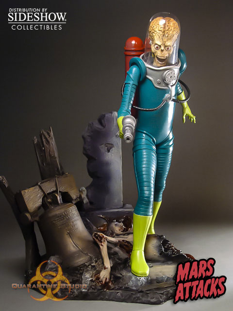 Sideshow Quarantine Studio Mars Attacks Statue