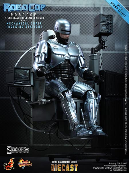 Hot Toys RoboCop Diecast with Mechanical Chair Figure Set