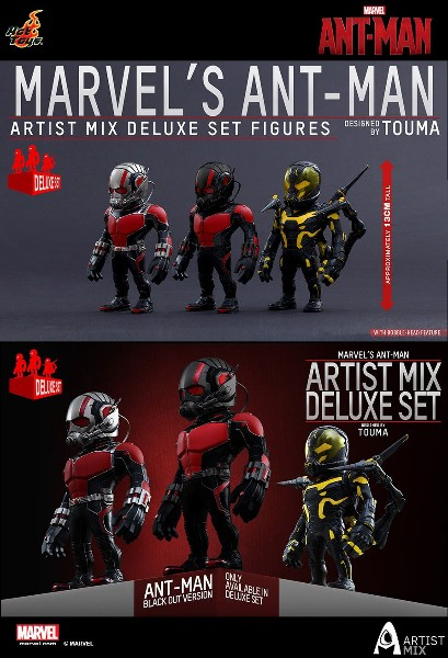 Hot Toys Marvel Ant-Man Artist Mix Deluxe Figure Set of 3