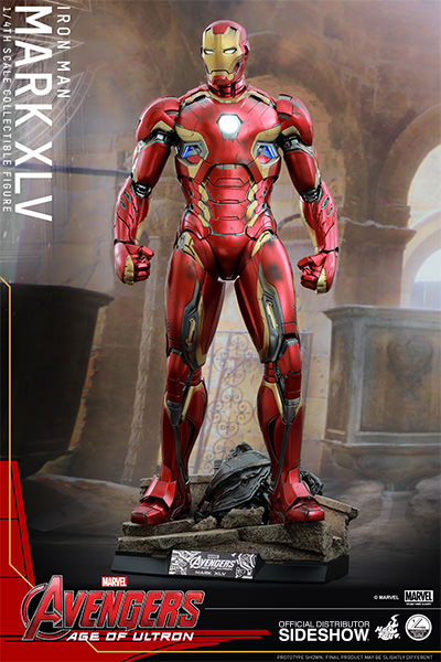 Preorder Hot Toys Marvel Iron Man Mark XLV Quarter Scale Figure