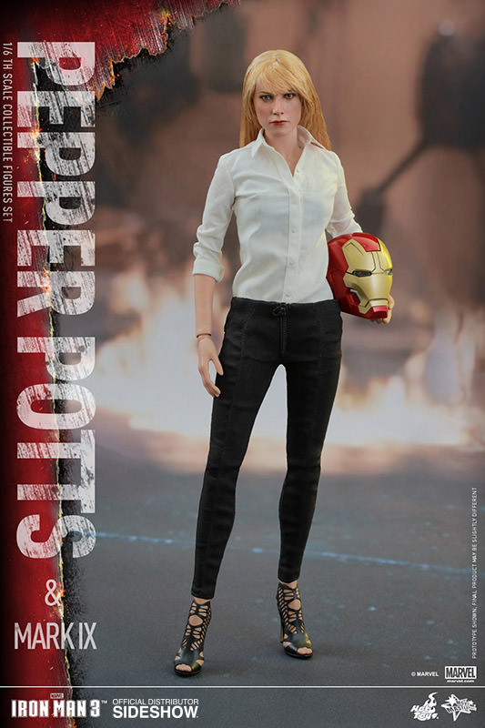 Preorder Hot Toys Marvel Iron Man 3 Pepper Potts and Mark IX