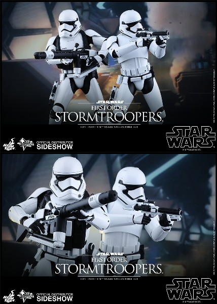 Hot Toys Star Wars First Order Stormtroopers Sixth Scale Set