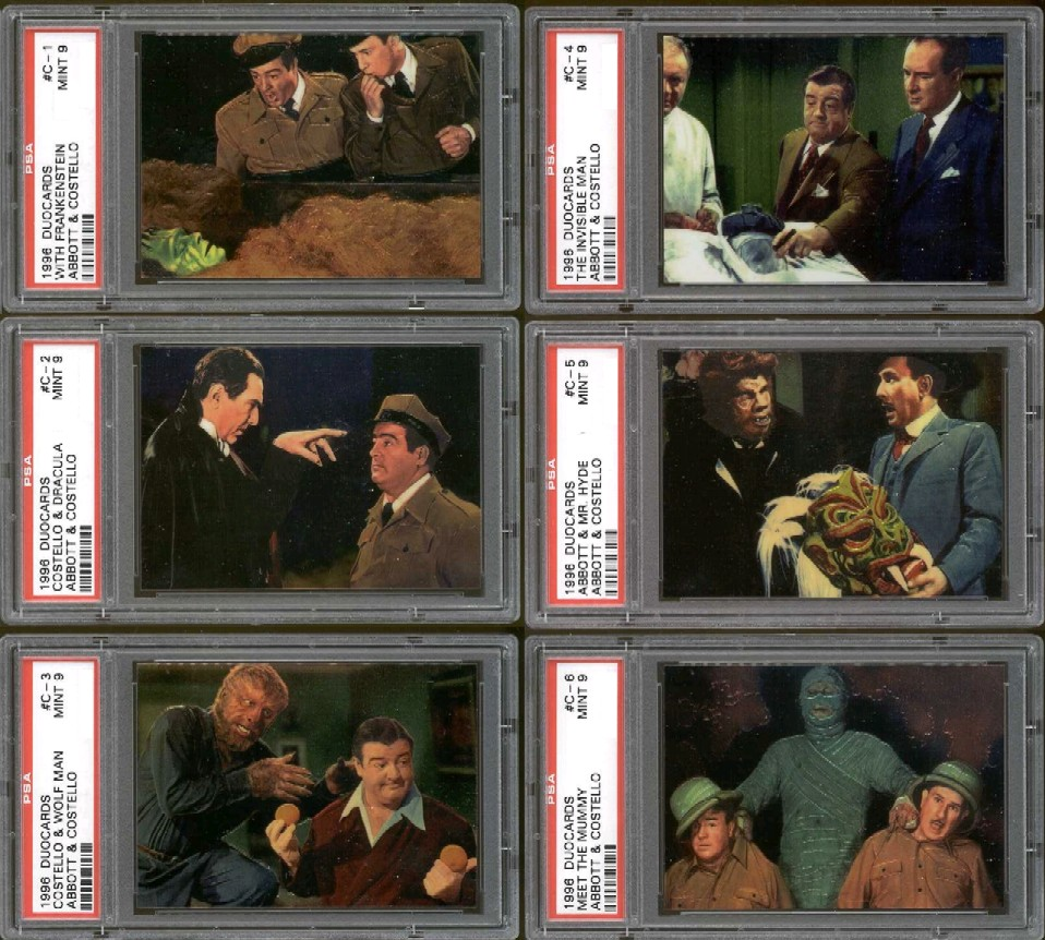 DuoCards Abbot & Costello Chromium Card Set PSA Graded