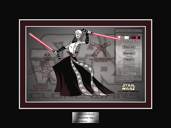 Acme Archives Star Wars Clone Wars Asajj Ventress Character Key
