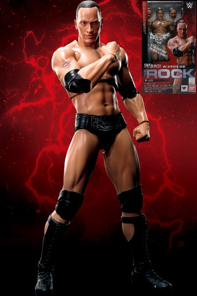 Bandai SH Figuarts WWE Superstar Series The Rock Figure
