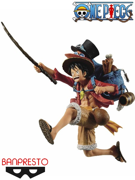 Banpresto One Piece Three Brothers Monkey D Luffy Figure