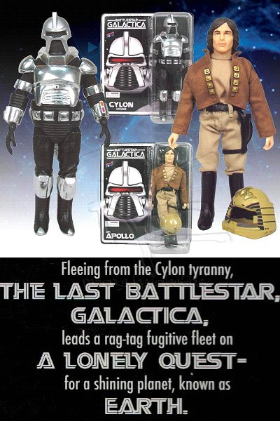 Bif Bang Pow! Battlestar Galactica Cylon and Captain Apollo Set