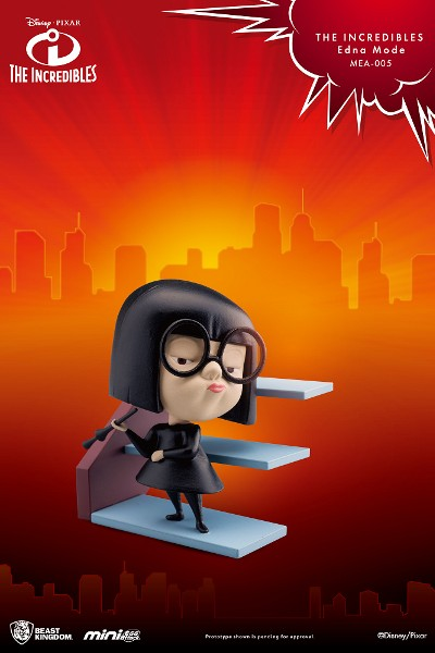 Beast Kingdom Pixar The Incredibles Edna Mode Mini Statue