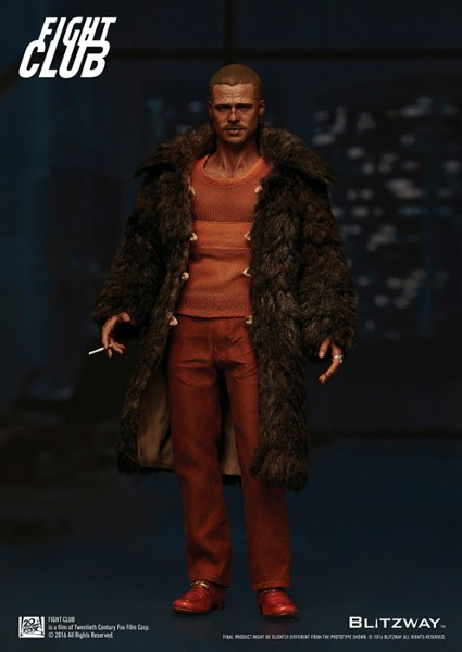 Blitzway Fight Club Tyler Durden Fur Coat Sixth Scale Figure