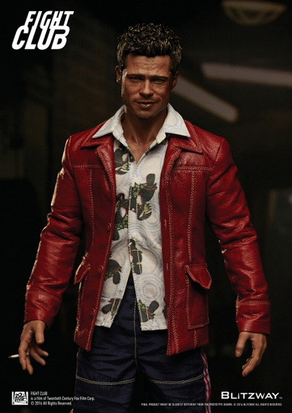 Blitzway Fight Club Tyler Durden Red Jacket Sixth Scale Figure