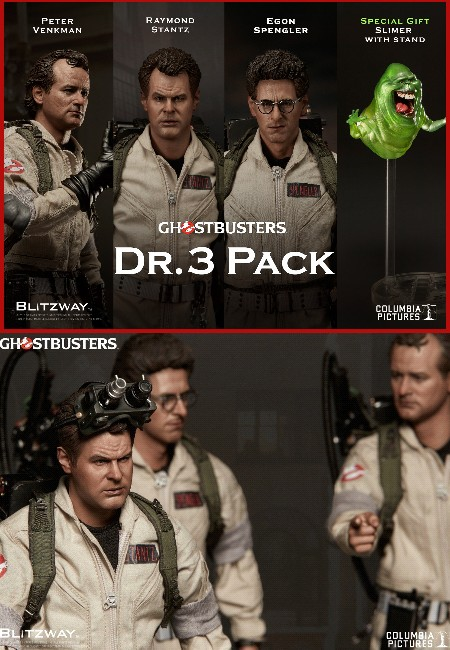 Preorder Blitzway Ghostbusters Doctors Sixth Scale Figure 3 Pack