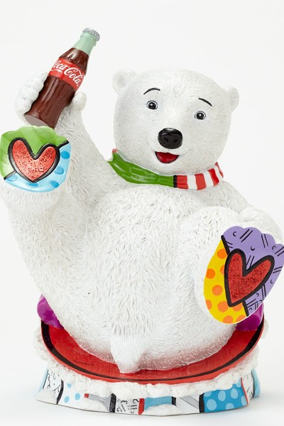 Disney Britto for Coca Cola Baby Polar Bear Figurine