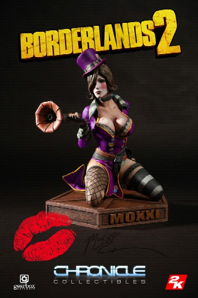 Chronicle Collectibles Borderlands Mad Moxxi Purple Coat Statue