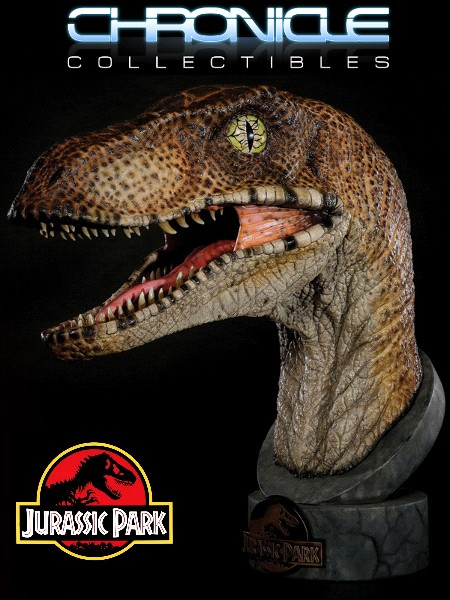 Preorder Chronicle Collectibles Jurassic Park Velociraptor Bust