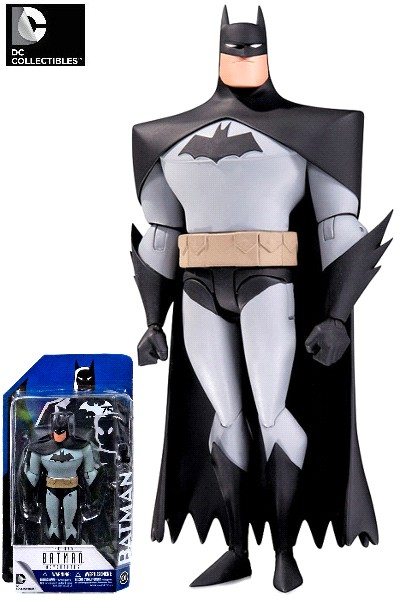 DC Comics Batman Animated Series Batman Black Cape Figure
