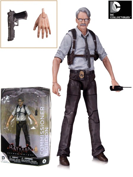 DC Comics Batman Arkham Knight Commissioner Gordon Figure