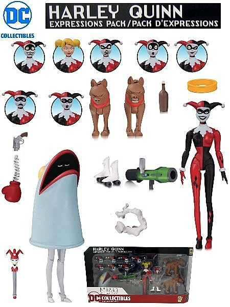 DC Comics Batman Animated Series Harley Quinn Expressions Pack
