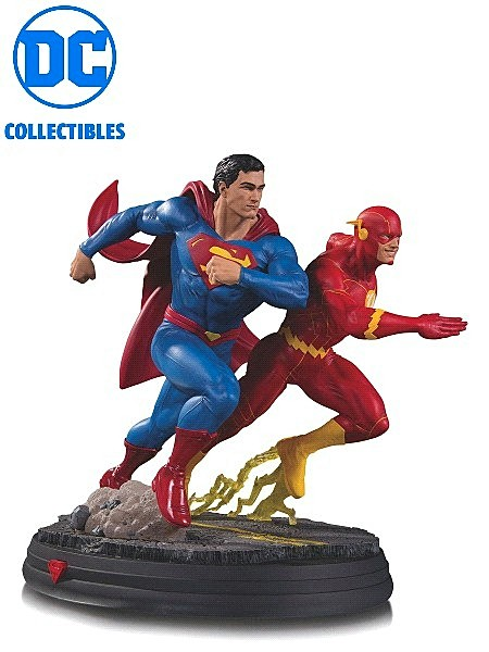 DC Collectibles DC Gallery Superman vs The Flash Racing Statue