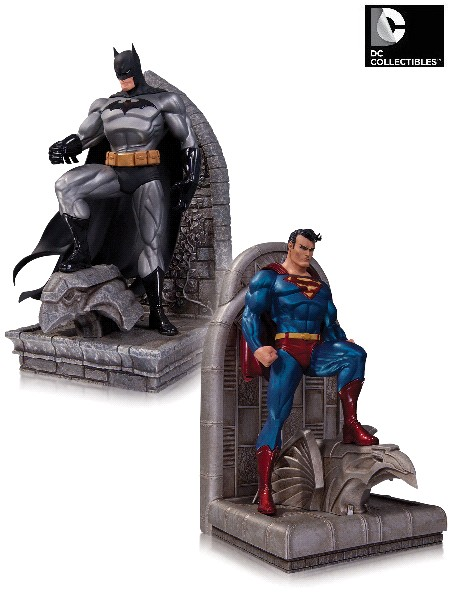 DC Collectibles DC Comics Batman and Superman Bookends Set