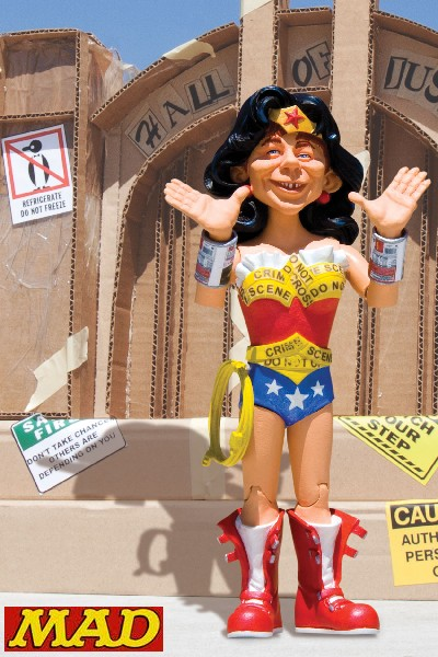 DC Direct MAD Magazine Just Us League Wonder Woman Action Figure