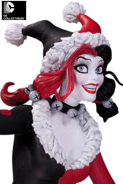 DC Collectibles Harley Quinn Red White and Black Holiday Statue