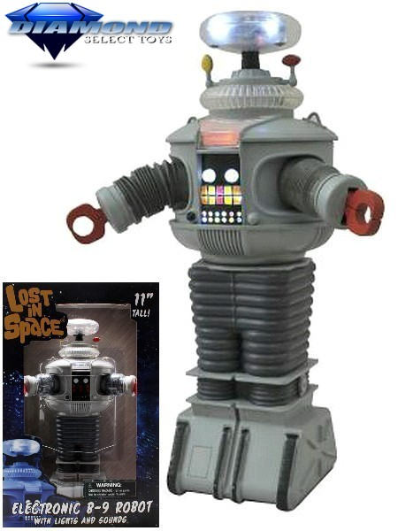 Diamond Select Toys Lost In Space B9 Electronic Robot Figure