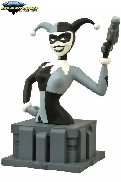 Diamond Select Batman Animated Harley Quinn Black and White Bust