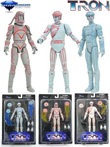 Diamond Select Toys 1982 Tron Movie Action Figure Set of 3