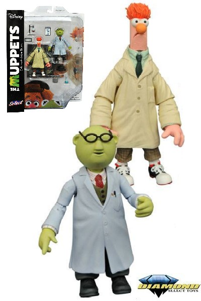 Diamond Select Toys The Muppets Bunsen Honeydew and Beaker Set