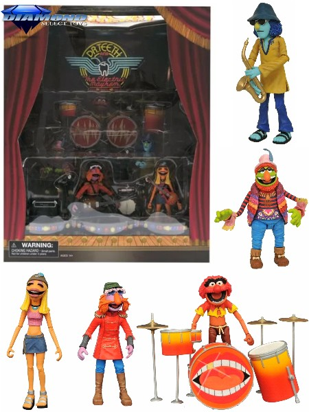 Diamond Select Toys The Muppets Electric Mayhem Deluxe Box Set