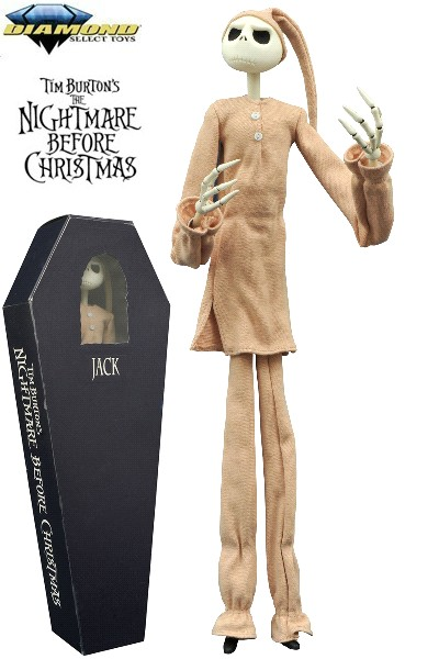 Diamond Select Toys Nightmare Before Christmas Pajama Jack Doll ...