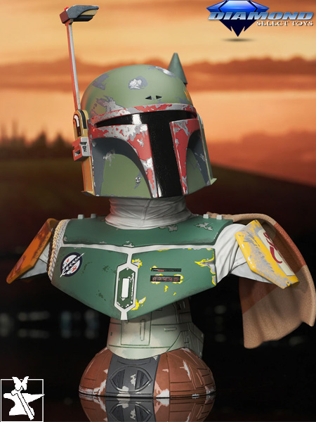 Preorder Diamond Legends in 3D Star Wars ESB Boba Fett Bust