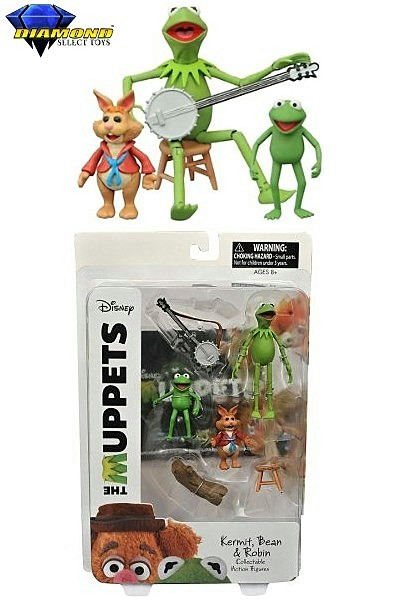 Diamond Select Toys The Muppets Kermit Bean and Robin Figure Set