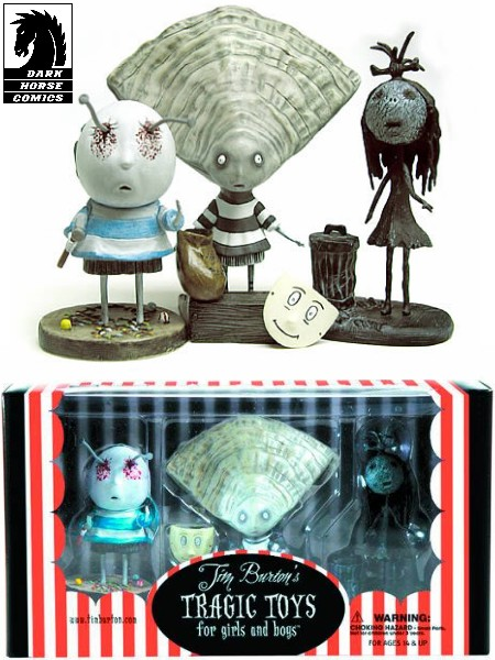 Darkhorse Tim Burton Tragic Toys Oyster Boy PVC Figure Set