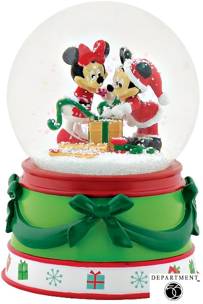 Department 56 Disney Holiday Mickey & Minnie Mouse Snow Globe