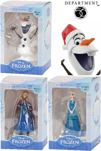 Department 56 Disney Frozen Anna, Elsa and Olaf Trinket Box Set