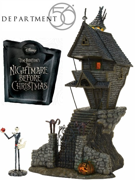 Department 56 Nightmare Before Christmas Jack Skellingtons House