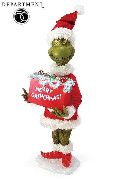 Department 56 The Grinch Merry Grinchmas Light Up Figure