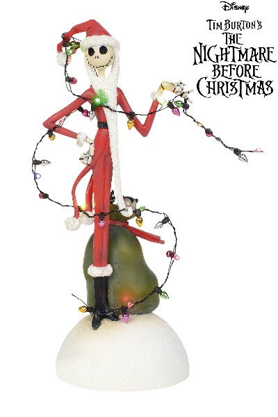 Department 56 NBX Jack Tangled in Lights Light Up Figurine
