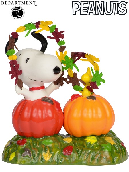 Department 56 Peanuts Happy Harvest Snoopy & Woodstock Figurine