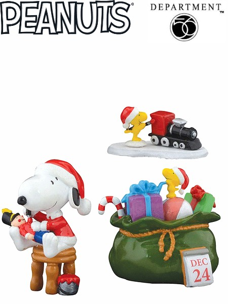 Department 56 Peanuts Santa's Helpers Figurine Set
