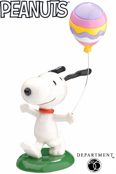 Department 56 Peanuts Snoopy's Easter Balloon Figurine