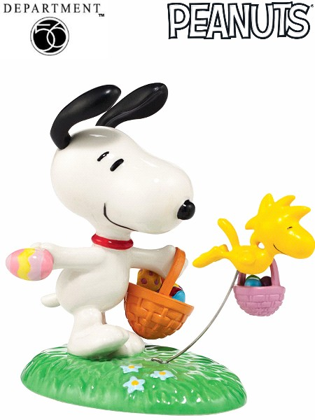 Department 56 Peanuts Snoopy\'s Easter Egg Hunt Figurine