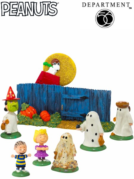 Department 56 Peanuts The Great Pumpkin is Coming Figurine Set