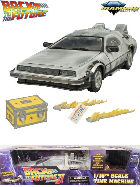 Diamond Select Toys Back to the Future III Iced Time Machine Set