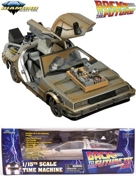 Diamond Select Toys Back to the Future 3 Rail Ready Time Machine