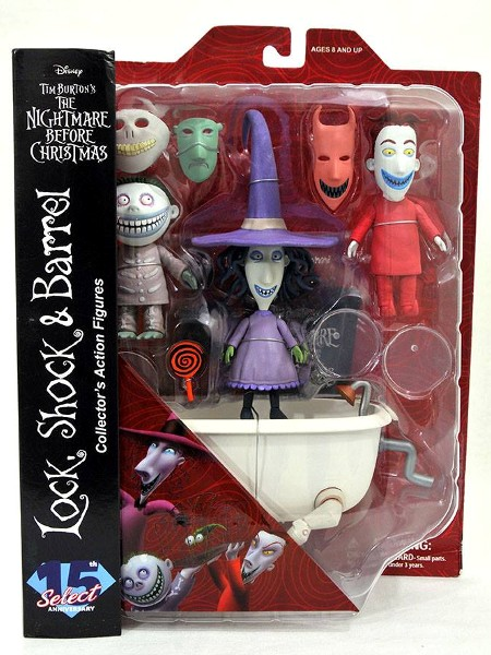 Diamond Select Nightmare Before Christmas Lock Shock and Barrel