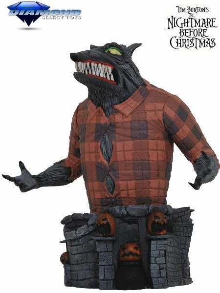 Diamond Select Toys The Nightmare Before Christmas Wolfman Bust