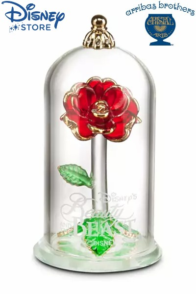 Disney Store Arribas Beauty and the Beast Small Rose Sculpture
